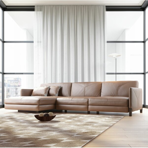 Lafayette Leather Sectional By Modloft Black