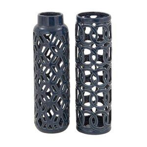 2 Piece Ceramic Table Vase Set