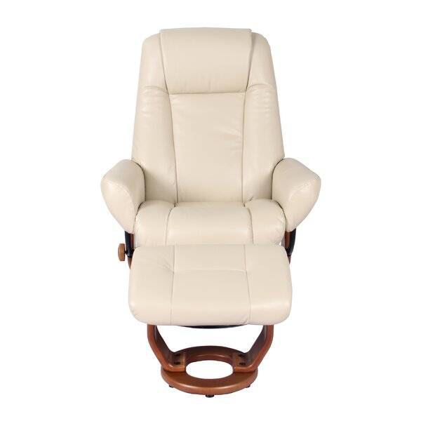 Rodrigue Manual Swivel Recliner with Ottoman by Winston Porter