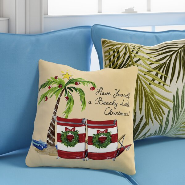 Ashworth Beachy Little Christmas Throw Pillow by Beachcrest Home