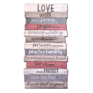 Love Stacked Wood Word Study Wall Décor