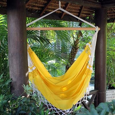 Cotton Chair Hammock by Novica