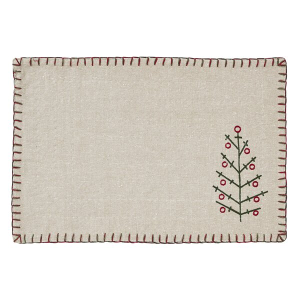 Tidings Placemat (Set of 6) by The Holiday Aisle