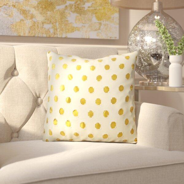 Polka Dot Outdoor Throw Pillow by House of Hampton