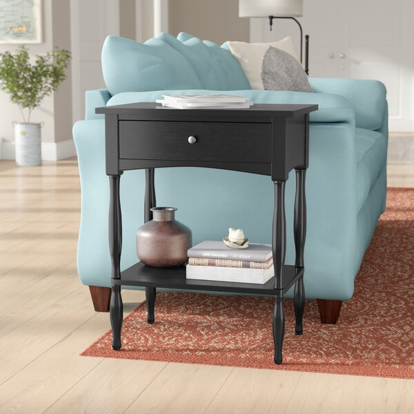 Kerlin End Table With Storage By Three Posts