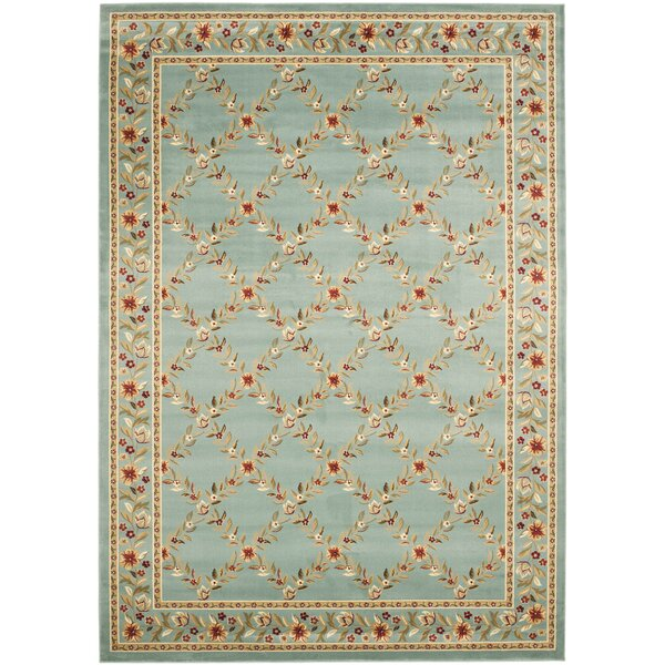 Taufner Blue Checked Area Rug by Astoria Grand