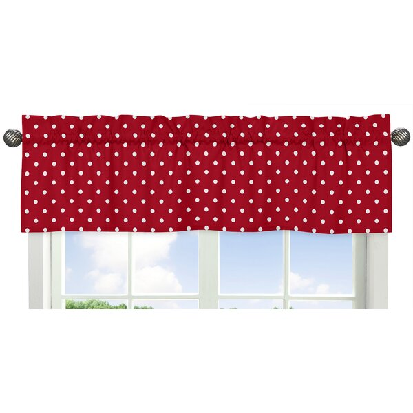 Polka Dot Ladybug 54 Window Valance by Sweet Jojo Designs