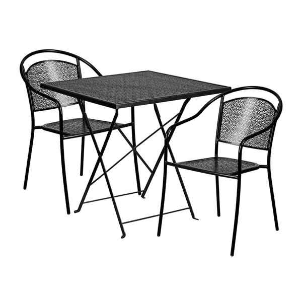 Mirabel Outdoor Steel 3 Piece Dining Set by Ebern Designs