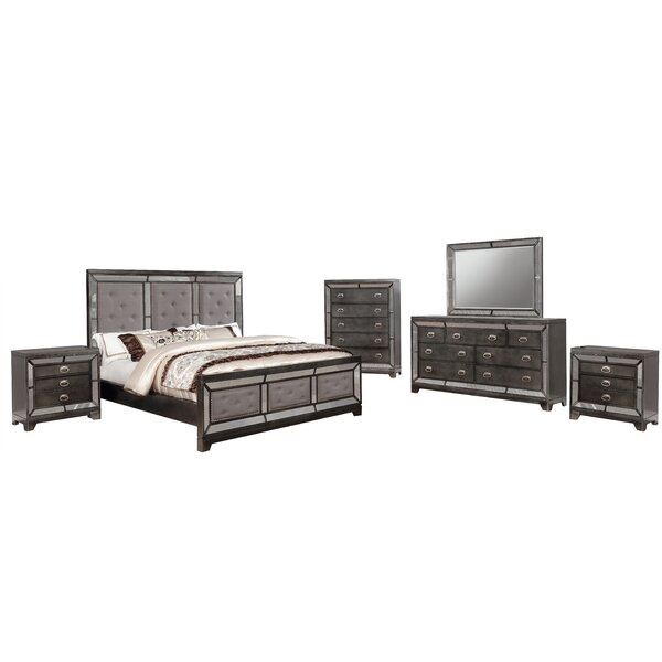 Sophia Standard 6 Piece Bedroom Set by Everly Quinn Everly Quinn