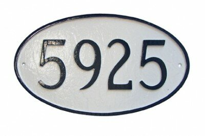1-Line Wall Address Plaque by Montague Metal Products Inc.