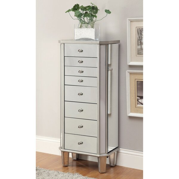 Leppert Contemporary Style Jewelry Armoire by Rosdorf Park