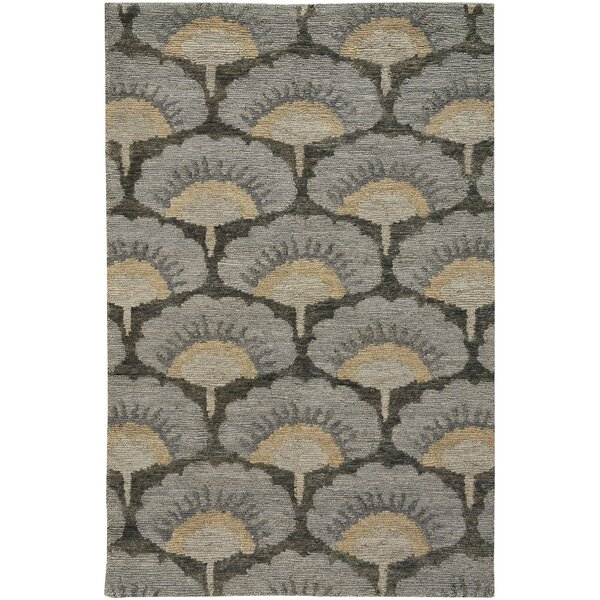 Chappell Hand-Knotted Gray/Beige Area Rug by Bloomsbury Market