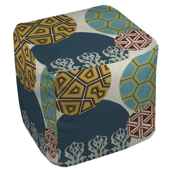 Paper Lanterns 2 Pouf by Manual Woodworkers & Weavers