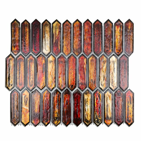 Fargin 0.9 x 3.1 Glass Mosaic Tile in Sunset by Splashback Tile