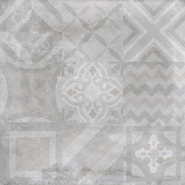Alive 24 x 24 Porcelain Tile in Gray Deco by Madrid Ceramics