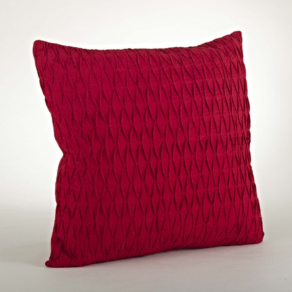 Malawi Diamond Pleated Cotton Throw Pillow by Saro