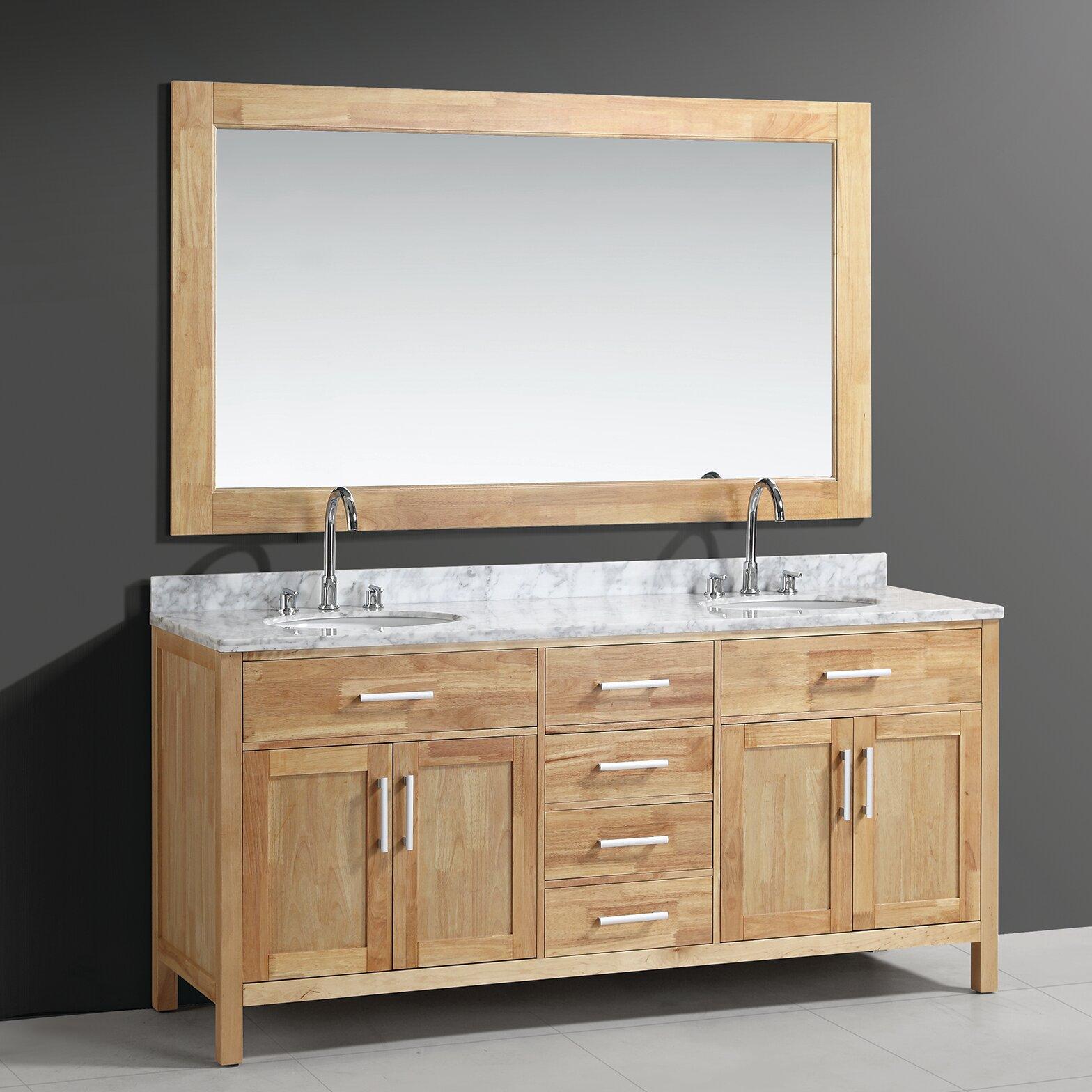 Double bathroom vanity - Halcomb 72 Double Bathroom Vanity Set With Mirror