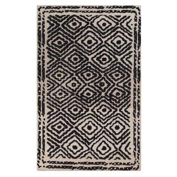 Sala Coal Black Area Rug by Bungalow Rose