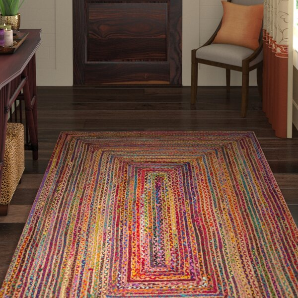 Bowen Hand-Woven Red/Multi Area Rug by World Menagerie