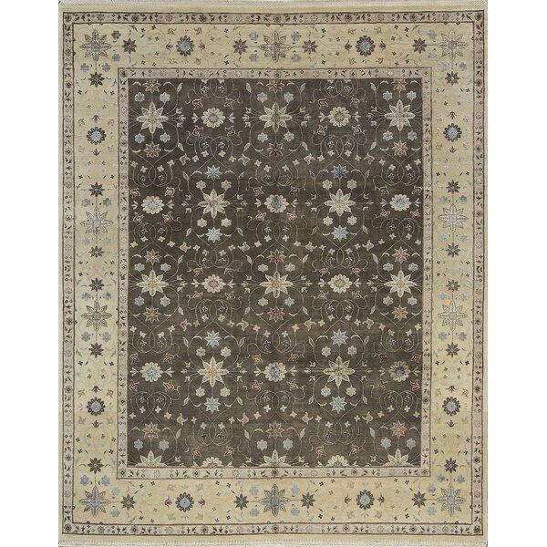 One-of-a-Kind Handwoven Wool Gray/Beige Indoor Area Rug
