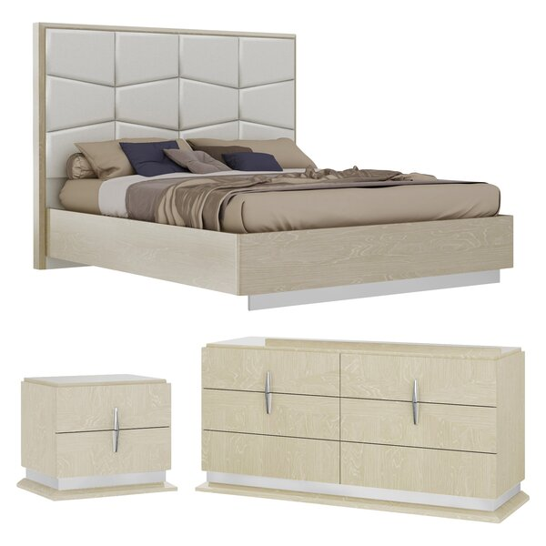 Kersh Platform Configurable Bedroom Set by Everly Quinn