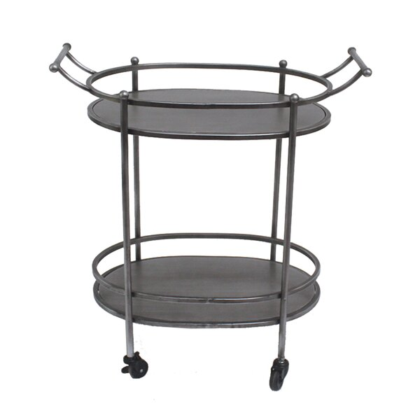 Woodruff Oval Bar Cart by Williston Forge