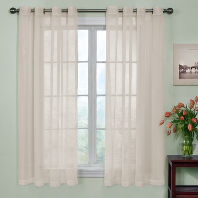 "Odor Neutralizing Voile Solid Sheer Grommet Single Curtain Panel Arm & Hammer⢠Curtain Fresh⢠Size per Panel: 59"" W x 63"" L, Curtain Color: Ivory"