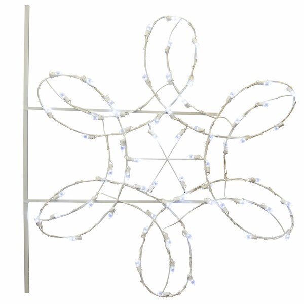 Double Spiral Snowflake Commercial Pole Decoration 66 Light  LED String Light by The Holiday Aisle