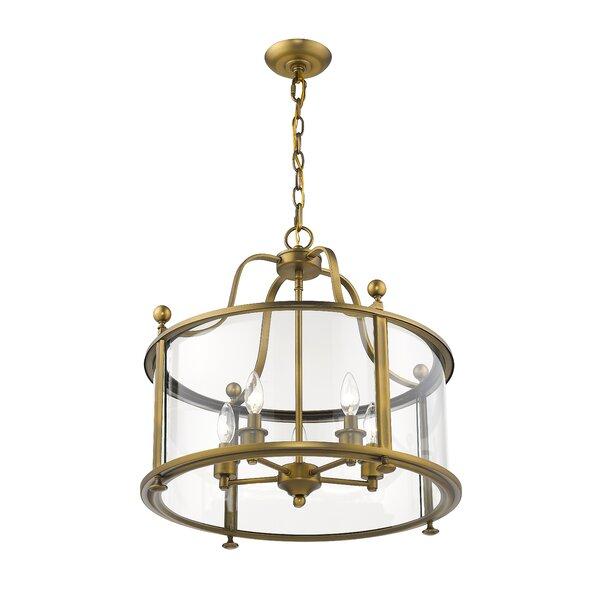 Lucah 5 - Light Lantern Geometric Chandelier By Darby Home Co