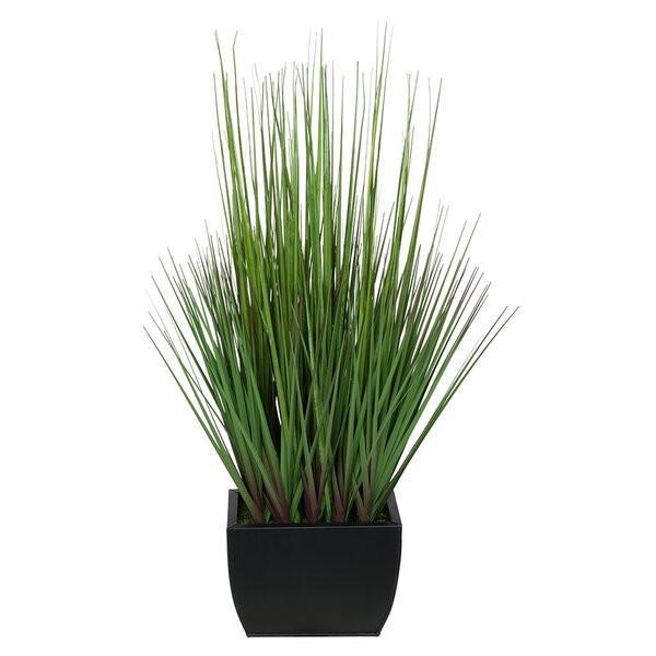 Artificial 27 Foliage Grass in Decorative Vase by House of Silk Flowers Inc.
