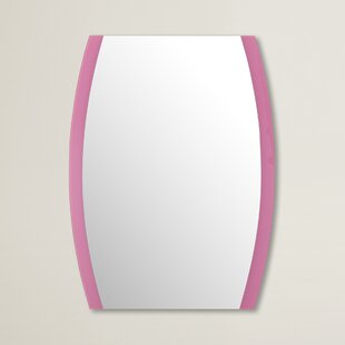 Brayden Studio Pink Framed Wall Mirror