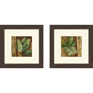 'Botanical' 2 Piece Framed Graphic Art Set by World Menagerie