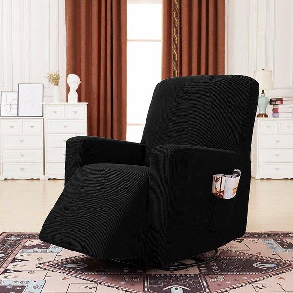 Plaid Stretch Box Cushion Recliner Slipcover by Ebern Designs