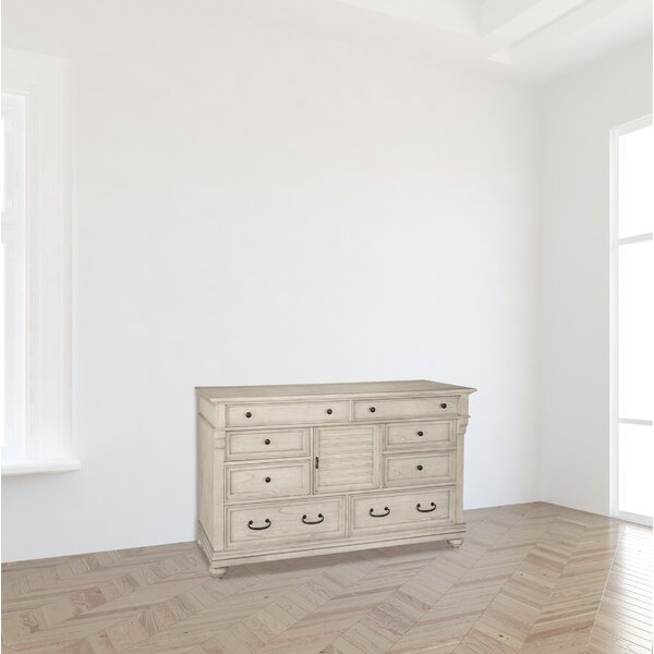 Raymon Louvered 8 Drawer Combo Dresser by Bloomsbury Market