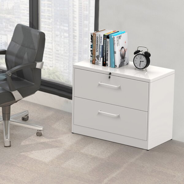 Anti-Tilt Structure 2-Drawer Lateral Filing Cabinet