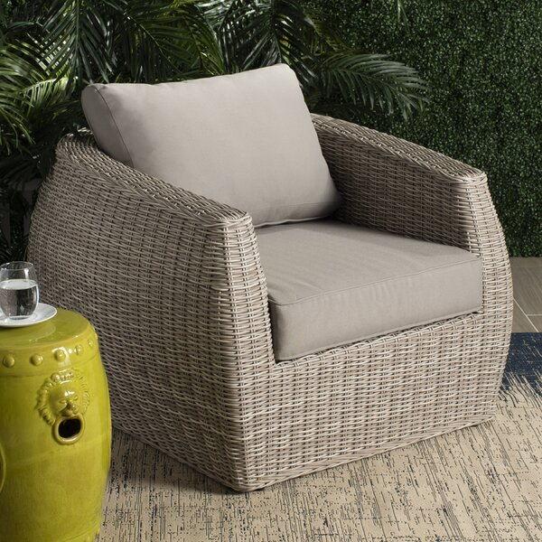 Dawkins Patio Chair with Cushions by Rosecliff Heights Rosecliff Heights