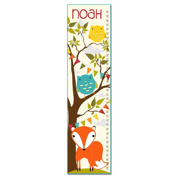 Haverstraw Fox in Woodland Personalized Growth Chart by Zoomie Kids