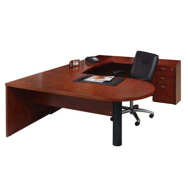 Mira Series U-Shape Executive Desk by Mayline Group