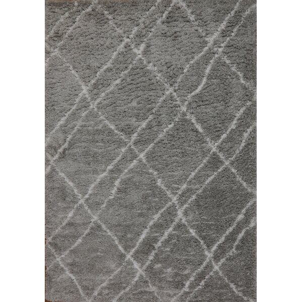 Tryon Gray Area Rug by Wrought Studio