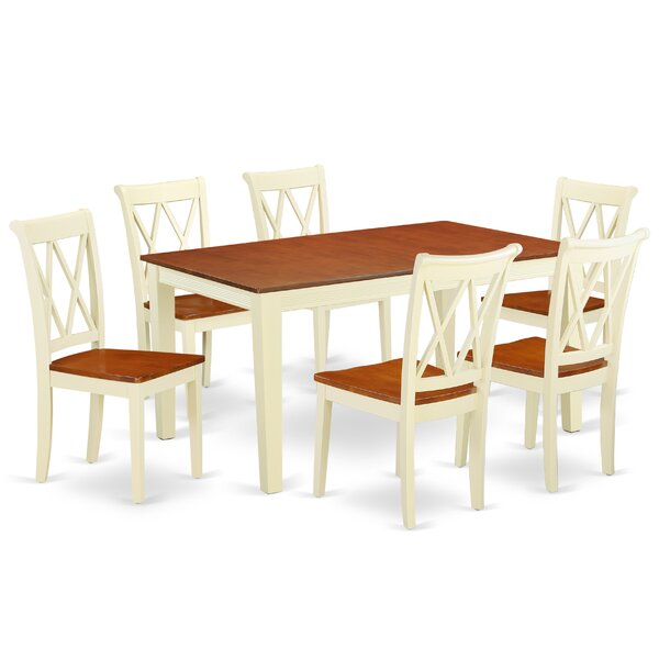 Kriner 7 Piece Extendable Solid Wood Dining Set by August Grove