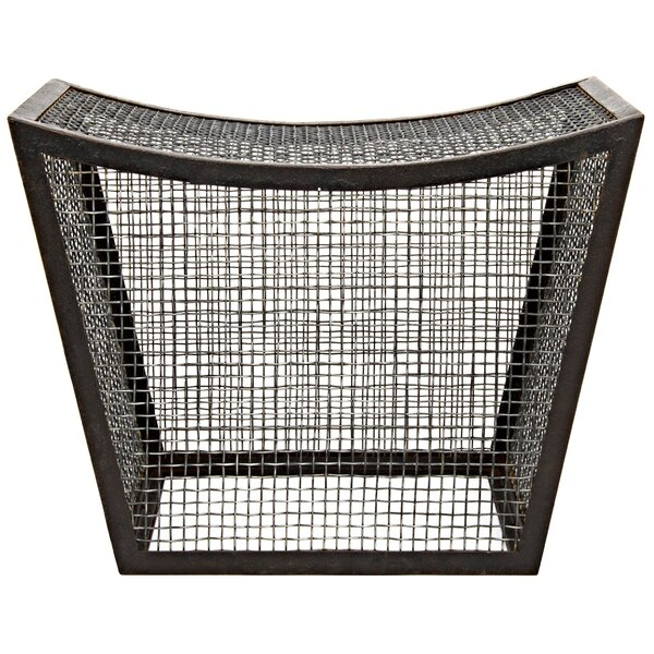 Cage Metal Accent Stool by Noir