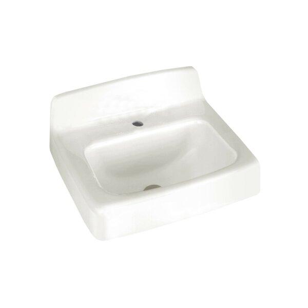 Lakewell Regalyn Ceramic 20 Wall Mount Bathroom Sink with Overflow by American Standard