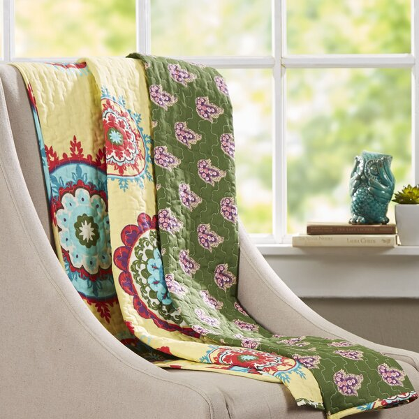 Marcelino Cotton Throw by Bungalow Rose