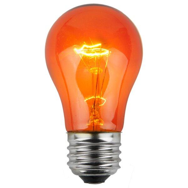 15W Amber130-Volt Light Bulb (Pack of 25) by Wintergreen Lighting