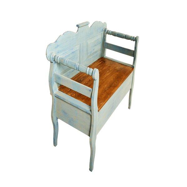 Eglantine Wooden Storage Bench by August Grove