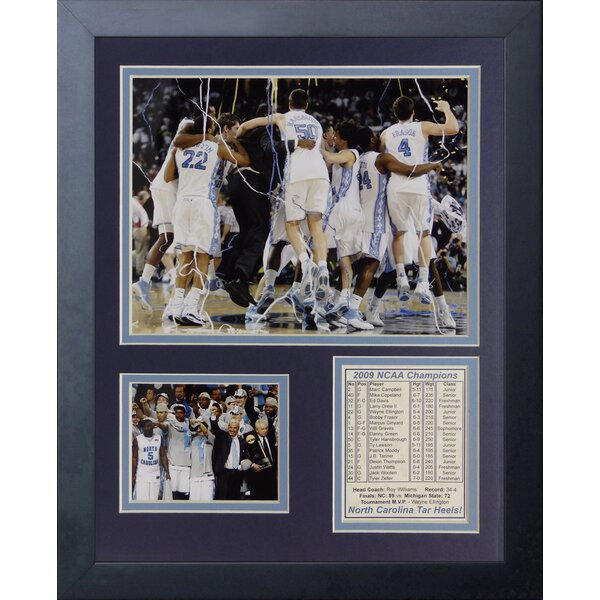 NCAA2009 North Carolina Tar Heels Champions - Celebration Framed Memorabilia by Legends Never Die