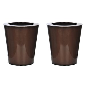 Round Small Zinc Vase (Set of 2)