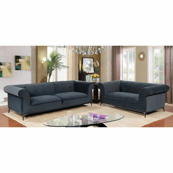 Aparicio 2 Piece Living Room Set by Everly Quinn