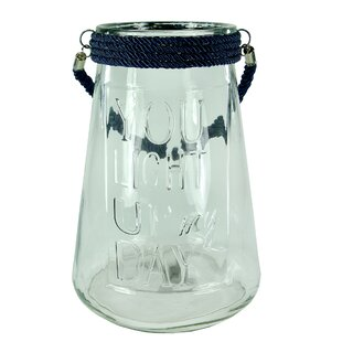 Affordable Price Glass Lantern By Breakwater Bay