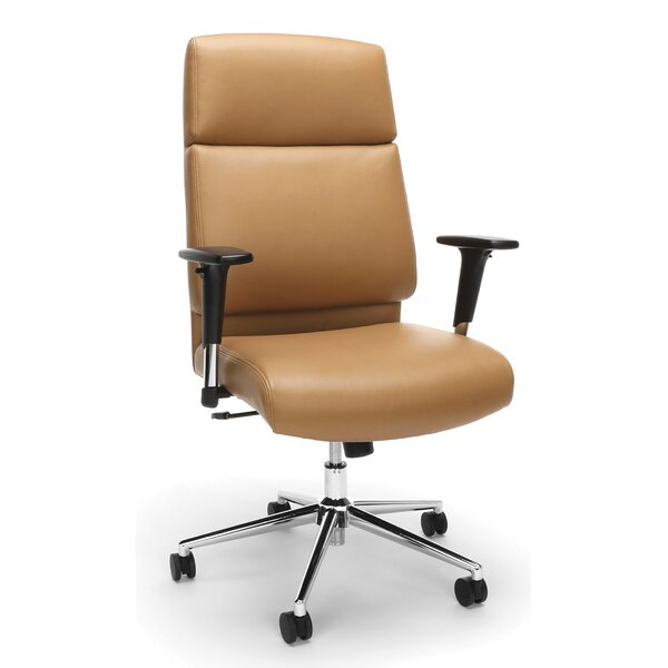 Huertas High Back Bonded Manager Leather Executive Chair by Latitude Run